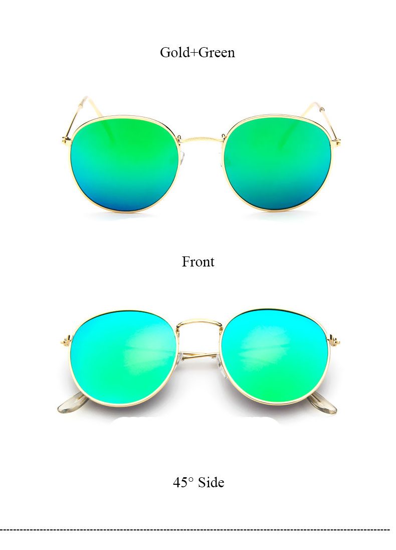 HTB1yeqGQVXXXXX3XXXXq6xXFXXXA - Round Sunglasses Women Retro Brand Designer Classic Rose Gold Steampunk Sun Glasses Men UV400 Rayed Mirror Female UV400