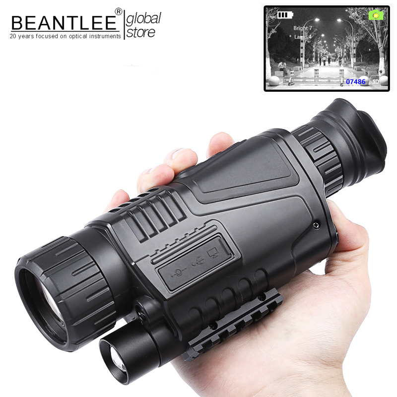 5 x 40 Infrared Digital Night Vision Telescope High Magnification Monocular 200m Veiw with Video Output Function for Hunting