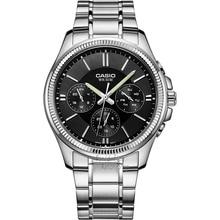 Casio watch Men's Watches Fashion Simple Leather Strip Waterproof Quartz Watch MTP-1375D-1A