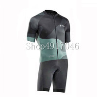 NW Quick dry Short Sleeve Cycling Jersey Triathlon Compression Sponge Padded Cycling Skinsuit Ropa De Ciclismo Maillot