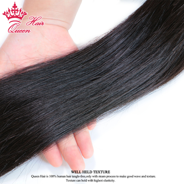 Queen Hair Products Brazilian Straight Remy Hair Bundles 1 Piece 100% Human Hair Weave Natural Color #1B Shipping Free