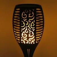 Solar Flame Flickering Lawn Lamp Led Torch Light Waterproof Outdoor Garden Decor L15