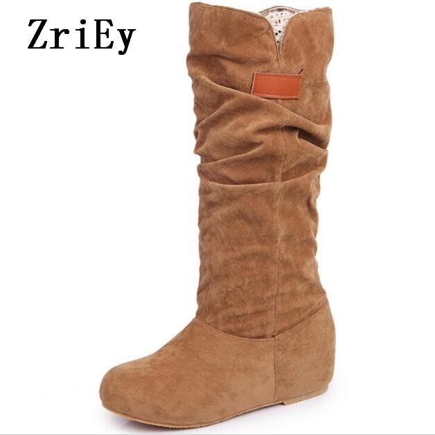 Invierno Zapatos Sapato Botas khaki Mujer Feminino Femme C170259 Altura Bombas La Mujeres Nieve Chaussure Black Niñas Aumento Las De Señoras brown wxOrZx