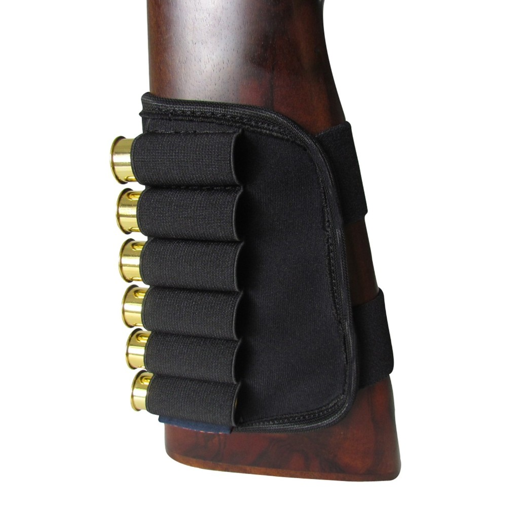 Pouches Gun Accessories Buttstock 12 Gauge Ammo Cartridges Holder Elastic For Hunting Shooting ELUANSHI Neoprene Nylon Fabric