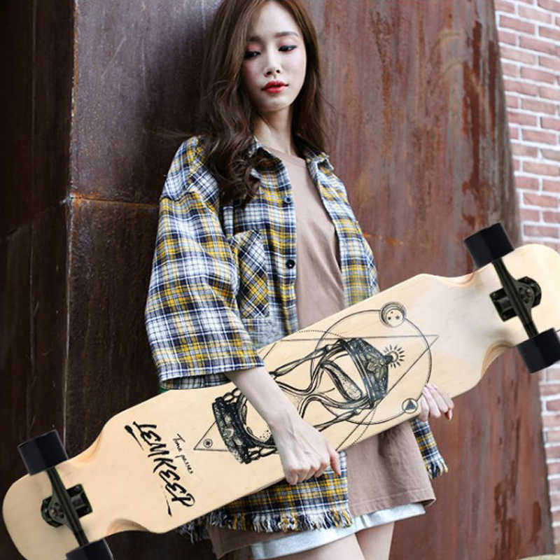 108cm Small long board skateboard beginner skateboard car adult road skateboard dance board brush street long board