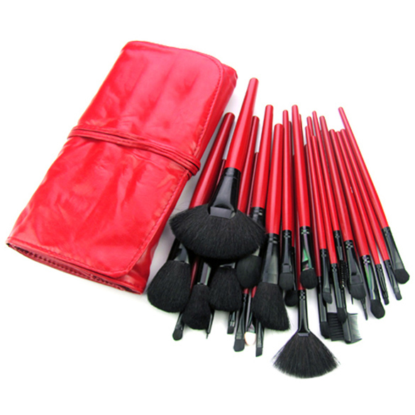 32 Pieces Red/Black Make Up Set Professional Makeup Accessories Brushes Tools Foundation Brush Sets & Kits High Quality 32 pieces comestic kit with black case professional makeup accessories brushes tools foundation brush sets