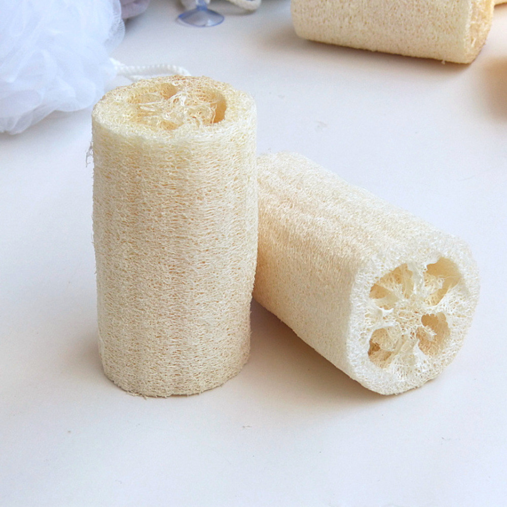 Hot 1 PC Natural Loofa Bath Shower Spa Cleans Loofah Sponge Body Scrubber Horniness Remover Luffa Body Bowl Pot Washing