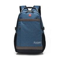 Brand 2019 Men Travel Backpacks Teenagers Casual Oxford Large Laptop School Waterproof Backpack Swiss Female Rucksack 9538