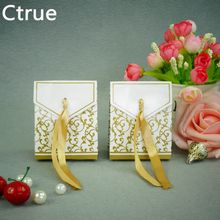 Gold Ribbon Gift Paper Bags