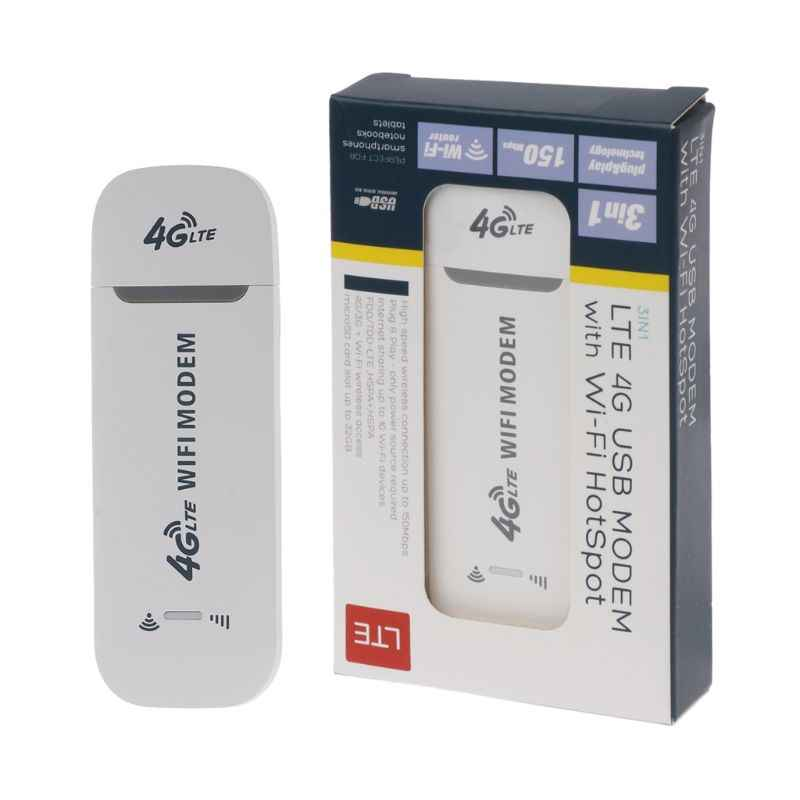 4G LTE USB Modem Network Adapter With WiFi Hotspot SIM Card 4G Wireless Router For Win XP Vista 7/10 Mac 10.4 IOS Nov-26A