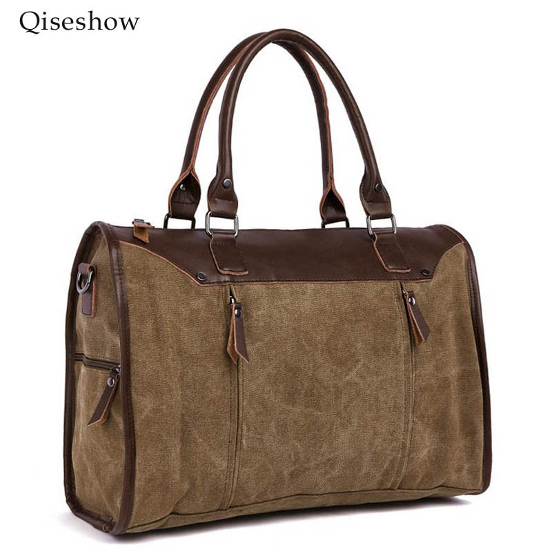 ФОТО 2017 Vintage bag Messenger Bag Men's Vintage Canvas School Military Shoulder Bag Retro Style For Man Canvas Handbag Travel bag