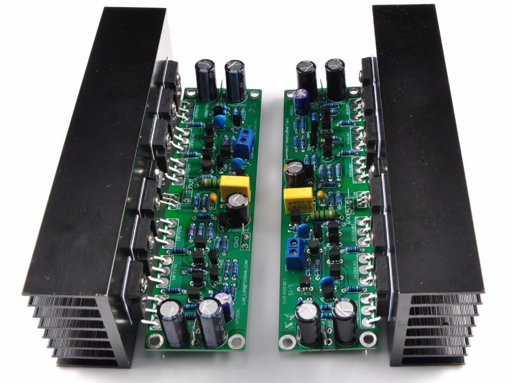 Assembled L15 MOSFET Amplifier Board 2 Channel AMP IRFP240 IRFP9240 Heatink