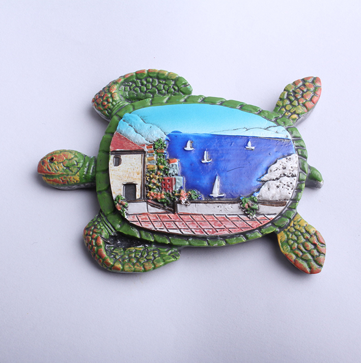 Home decoration tortoise 3D resin fridge magnets sticker on hot sale
