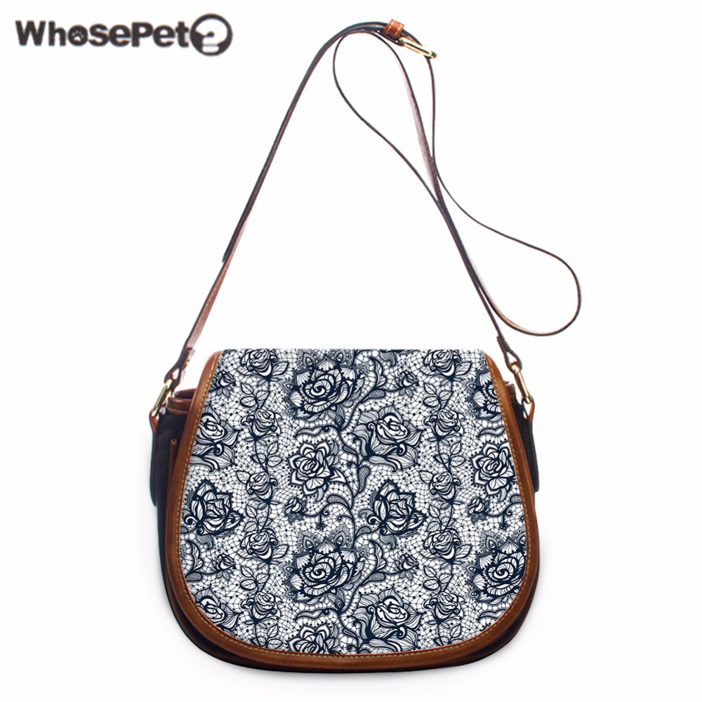 WHOSEPET New Satchel Handbag Vintage Single Shoulder Bag For Girls Cross Body Purse Women Fashion Flowers Printing Satchel Bags цена
