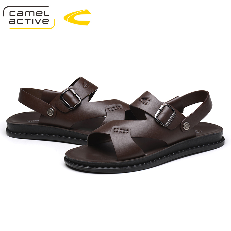 Camel Active NEW Summer Men Sandals Men Microfiber Leather Beach Shoes Men Slippers Causal Shoes Male Beach Outdoor Slippers цена