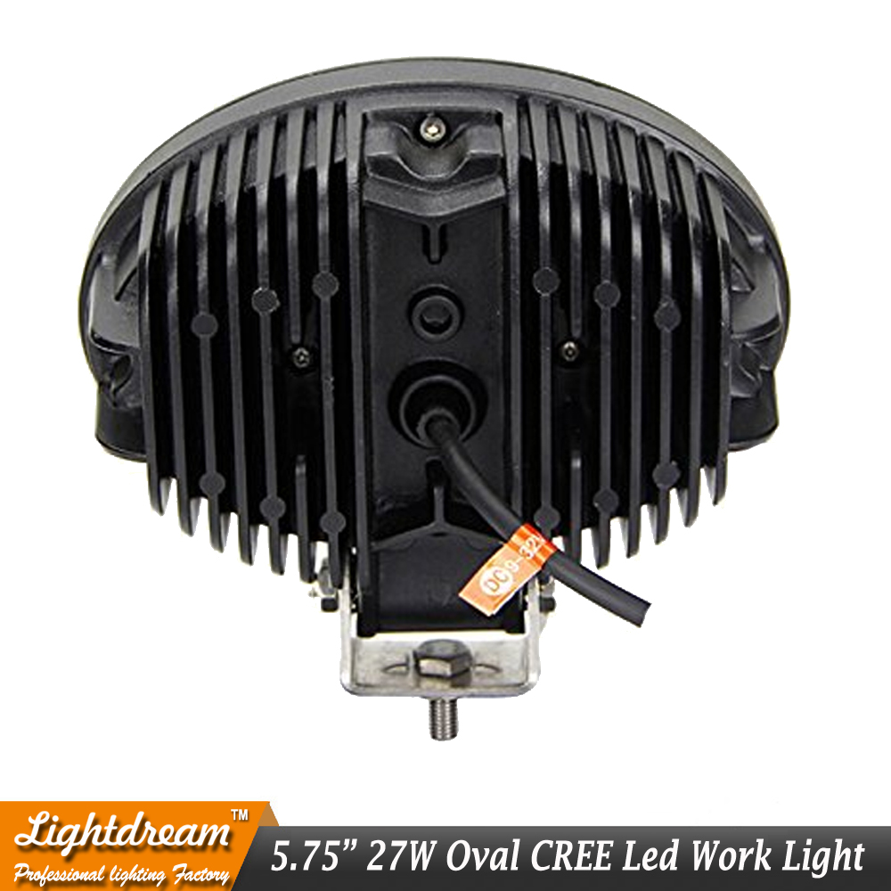 6 27 Вт овальный светодиодный свет работы 12 В 24 В Offroad противотуманных фар авто грузовик ATV мотоцикл прицепы Велосипедный Спорт 4WD 4x4 12 В 24 В пят...