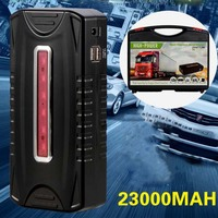 24V 23000mAh Black Portable Car Jump Starter Power Bank Emergency Auto Battery Booster Pack Vehicle Work Gasoline Diesel Car 1Pc