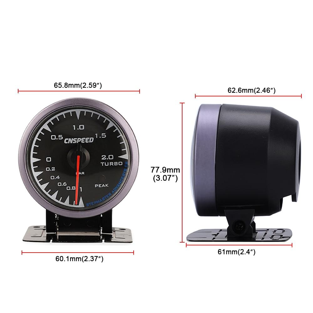 Image 5 - CNSPEED 60mm 7 Colors LED 12V BAR Turbo Boost Gauge Meter Sensor POD Universal For Honda Car Boost Turbo Meter Auto Gauge-in Boost Gauges from Automobiles & Motorcycles