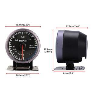 Image 5 - CNSPEED 60mm 7 Colors LED 12V BAR Turbo Boost Gauge Meter Sensor POD Universal For Honda Car Boost Turbo Meter Auto Gauge