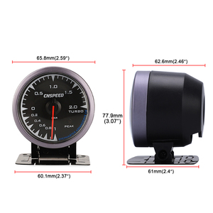 Image 5 - CNSPEED 60mm 7 Kleuren LED 12V BAR Turbo Boost Gauge Meter Sensor POD Universal Voor Honda Auto Boost turbo Meter Auto Gauge