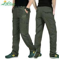 LoClimb al aire libre de secado rápido pantalones para los hombres de verano de montaña escalada pesca pantalones del ejército Trekking deporte impermeable pantalones AM005