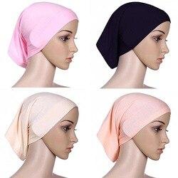 المرأة وشاح الرأس القطن underscarf الإسلامية بنت الحجاب غطاء الرأس 6YOB قلنسوة
