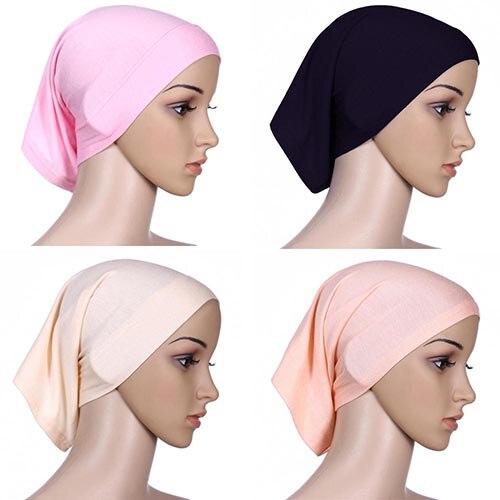 Islamic Muslim Women's Head Scarf Cotton Underscarf Hijab Cover Head Bonnet 6YOB