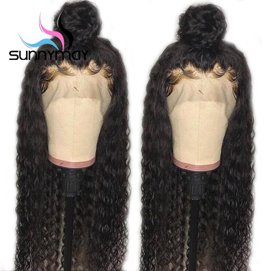 Sunnymay Hair Curly Human Hair Wigs With Baby Hair Pre Plucked Lace Front Human Hair Wigs Remy Glueless Human Lace Front Wigs