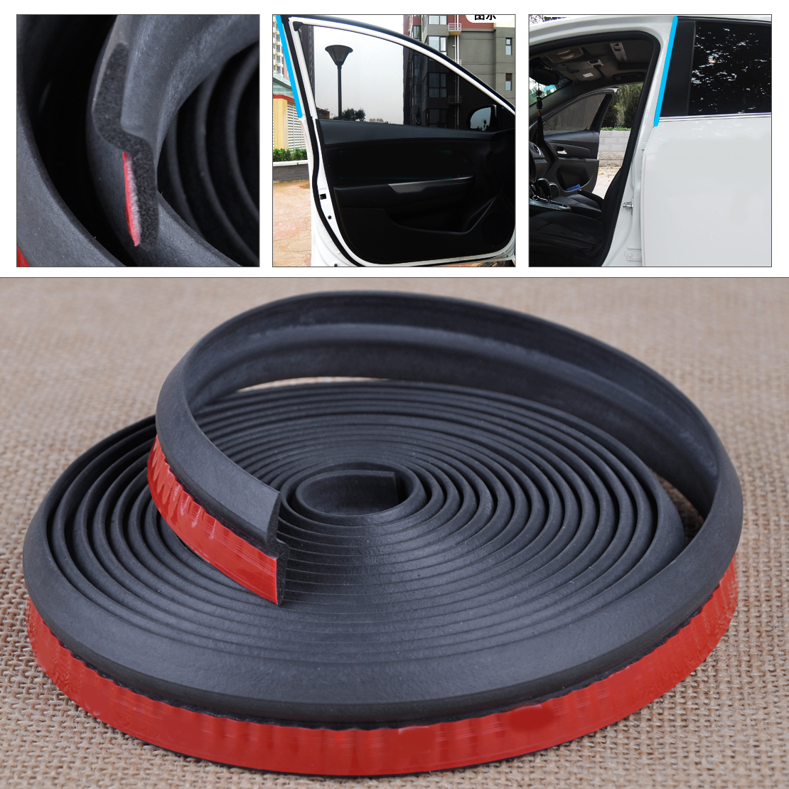 CITALL 8M/4M/5M D/P/Z/B Shape Car Door Edge Rubber Seal Weatherstrip Hollow Soundproof Dustproof Moulding Trim Protector cawanerl car sealing strip kit weatherstrip rubber seal edging trim anti noise for nissan almera march micra note pixo platina