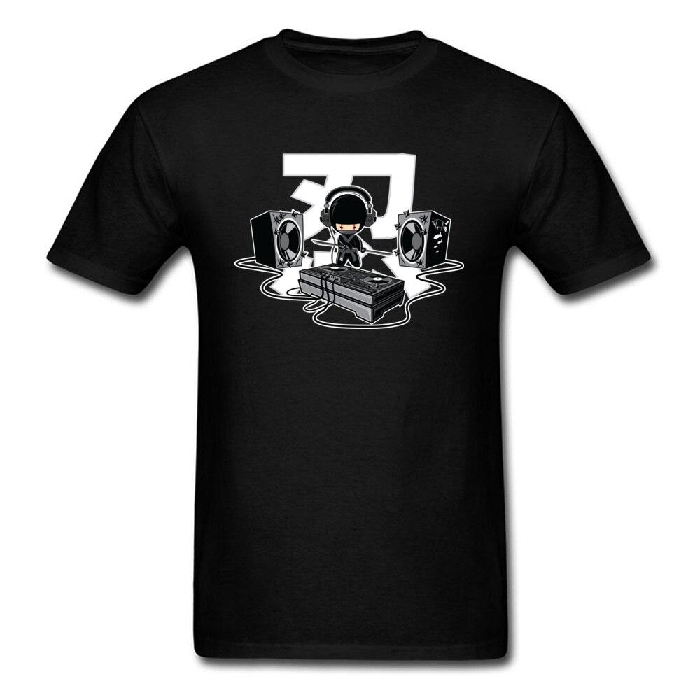 2018 Ninja DJ Shinobi Killer Men T Shirt Black Cool Tee Shirts Music Lover Custom Cotton Short Sleeve Top Clothing