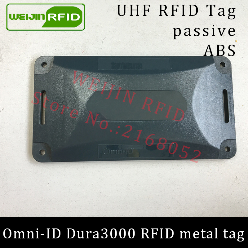 UHF RFID anti-metal tag omni-ID Dura 3000 dura3000 915mhz 868m Alien Higgs3 EPCC1G2 6C durable ABS smart card passive RFID tags uhf rfid metal tag 915mhz 868mhz alien higgs3 epcc1g2 6c 53 13 2 8mm fixed assets management pcb smart card passive rfid tags