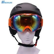 Skiing Helmet + skiing goggles double lens anti fog ski eyewear mens womens winter outdoor Extreme Sports snow snowboard Helmet