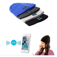 2016 New Fashion Outdoor Sport Stereo Music Hat Beanie Cap Wireless Bluetooth Earphone Headset Headphone Smart Speaker Mic