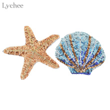 Lychee Life Морская звезда ракушки блестки пришить патчи для одежды DIY патч одежды аппликация Одежда украшения