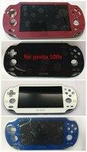 100% 플레이 스테이션 ps vita psv 1000 1001 lcd 스크린 디스플레이 + 터치 디지타이저 + 프레임 무료 배송 4 색