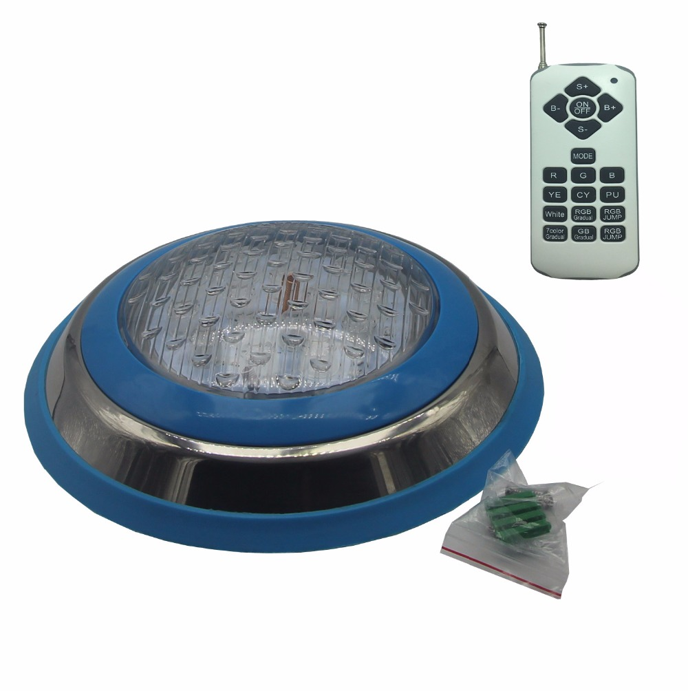 Surface Pool LED 12V Underwater Light RGB Swimming Lamp IP68 Water proof Stainless Steel 36W 45W 54W Fountain Lighting