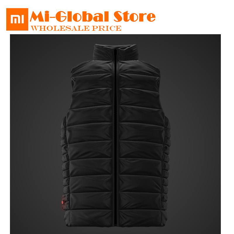 new arrival Xiaomi COTTONSMITH heated down vest Graphene temperature controlled heating 4 gear 90% White goose down machine wash xiaomi cottonsmith stylish denim jacket 100