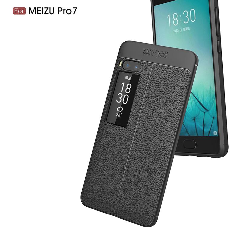 Litchi leather silicone case Meizu Pro 7 (6)