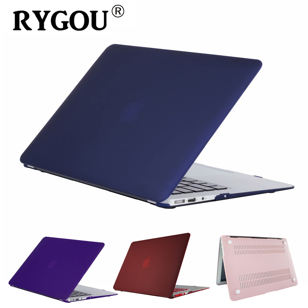 все цены на For New Macbook Pro 13 15 Case Matte finish Frosted Cover for Macbook Air 13 11 Pro Retina 12 13.3 15.4 inch Laptop Sleeve Case