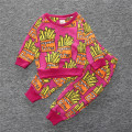 New style 2016 Autumn cotton sports suit for boys and girlsof two items a long T-shirt and long pants baby clothing set