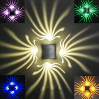 Creative Aluminum Square Lighting Indoor Wall Lamp LED Modern Spark Light Projection Lights For Home Party