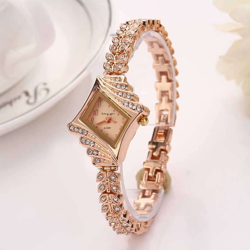 Miracle Moment Full Steel Gold Plated Fashion Women Girl Bracelet Watch Slim Quartz Alloy Gold Wristwatch Hot sale AG31