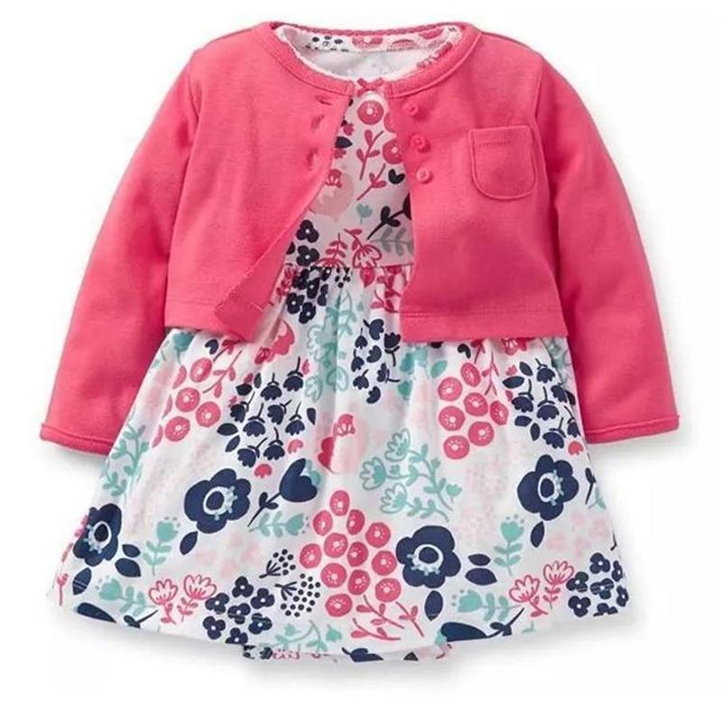 2019 Sommer Neugeborenen Baby Mädchen Setzt Säugling Kleidung Body Kleid Floral + Mantel 2 Stücke Kleinkind Little Outfit Baumwolle Babys Anzug In Vielen Stilen