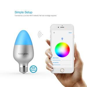 Image 4 - Koogeek Thông Minh WiFi Bóng E27 8W Đổi Màu Mờ Bóng Đèn LED Hoạt Động Với Apple HomeKit Hỗ Trợ Siri Lịch Trình hẹn Giờ