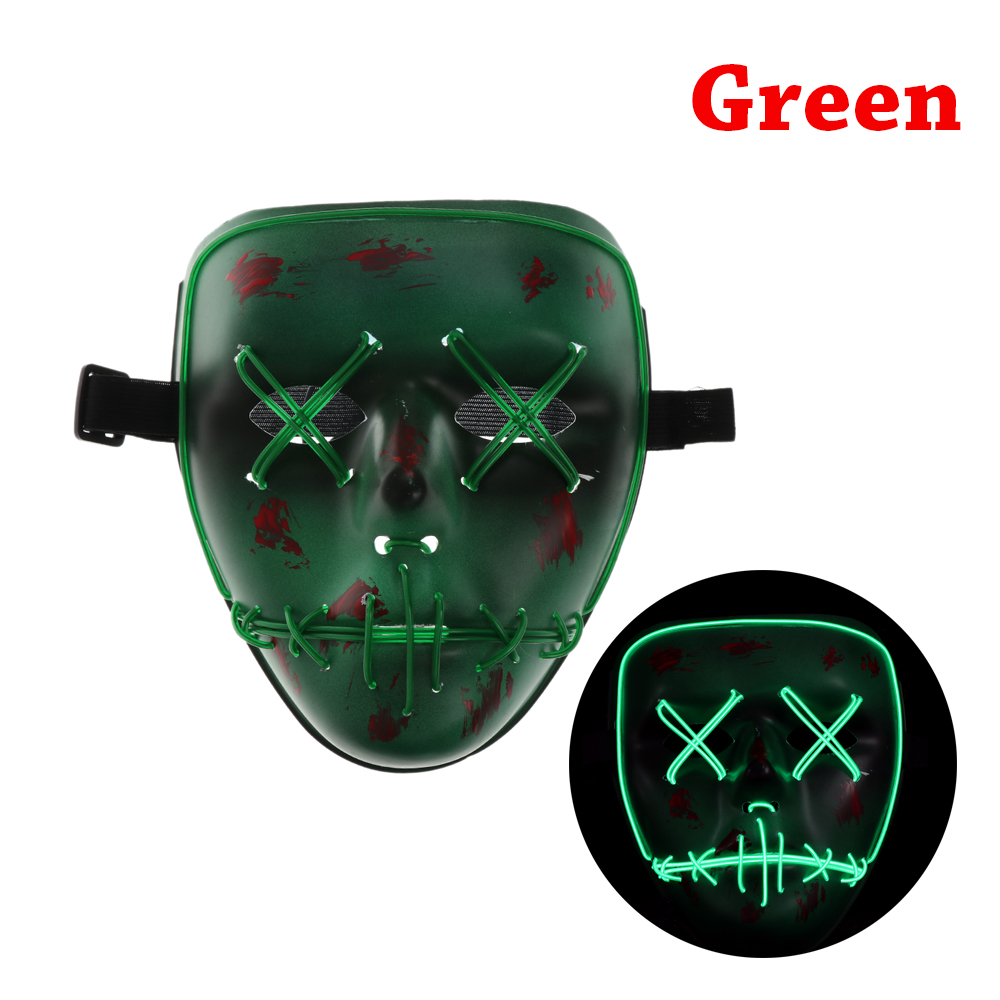 1PC New 2017 Halloween LED Mask The PURGE Movie EL Wire DJ Party ...