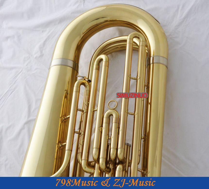 Профессиональные золотые тубы Рог Bb ключи монельные клапаны 2 мундштук с чехлом