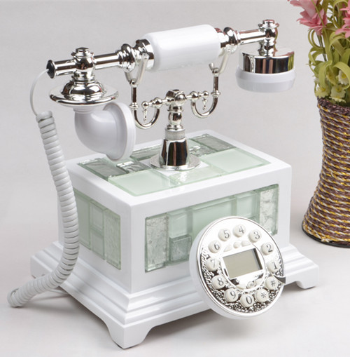 Ye are the top antique telephone European Garden retro home phone office phone caller ID Decoration home art rustic phone