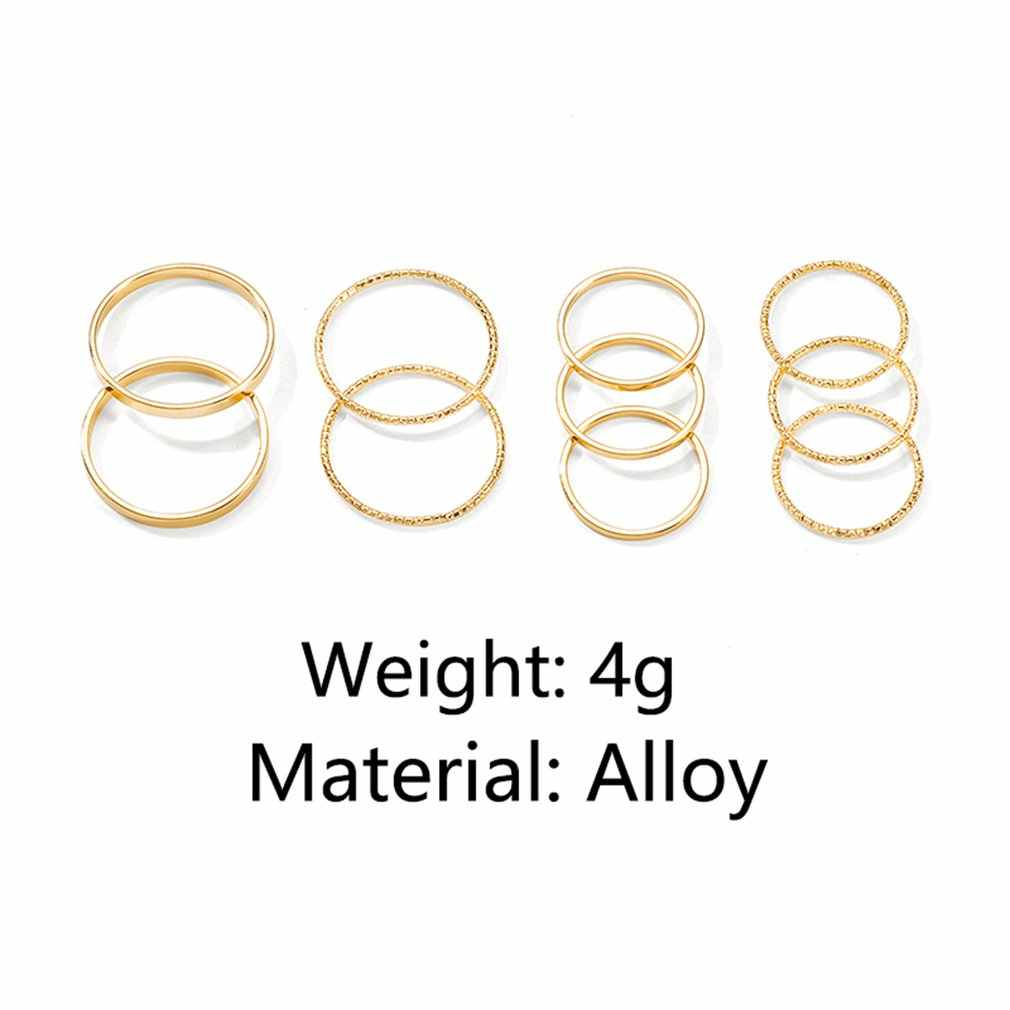 19030796 แหวนชุด 10 ป่า index แหวนนิ้วมือชุดแหวนหางร่วมแฟชั่นเครื่องประดับ