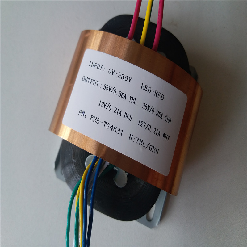 2*35V 0.36A 2*12V 0.21A Transformer R Core R25 custom transformer 230V 30VA with copper shield for Pre-decoder HIFI power supply 7 5v 4a r core transformer 30va r30 custom transformer 230v copper shield for pre decoder power amplifier