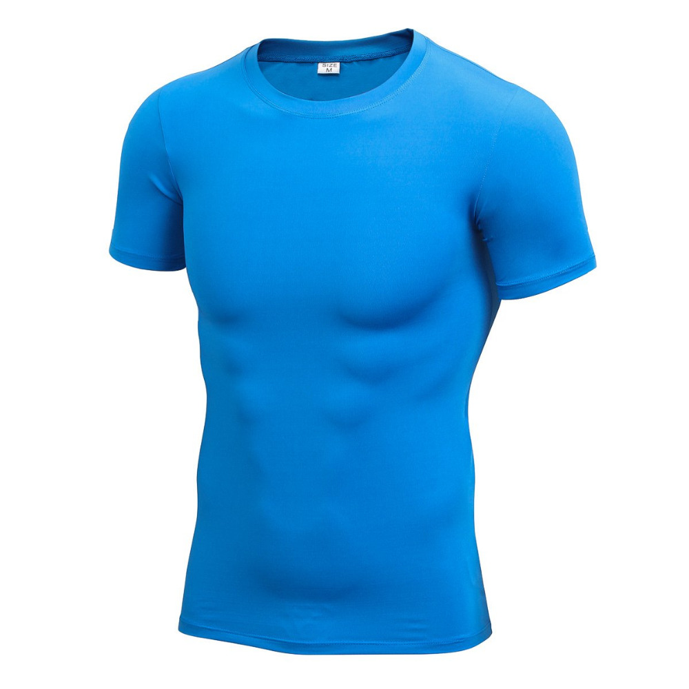 United Short Sleeve Running T-shirts Compression Basketball Running Tops Man Tight T Shirts Quick Drying Fitness Tops